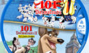 101 Dalmatians Double Feature R1 Custom Blu-Ray Label
