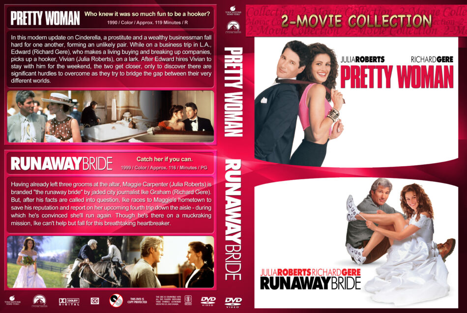 Pretty Woman Runaway Bride Double Feature 1990 1999 R1 Custom Dvd Cover Dvdcover Com