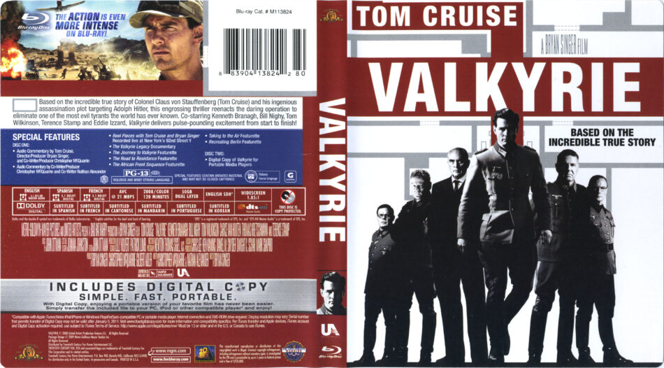 Valkyrie 2008 R1 Blu Ray Cover Labels Dvdcover Com