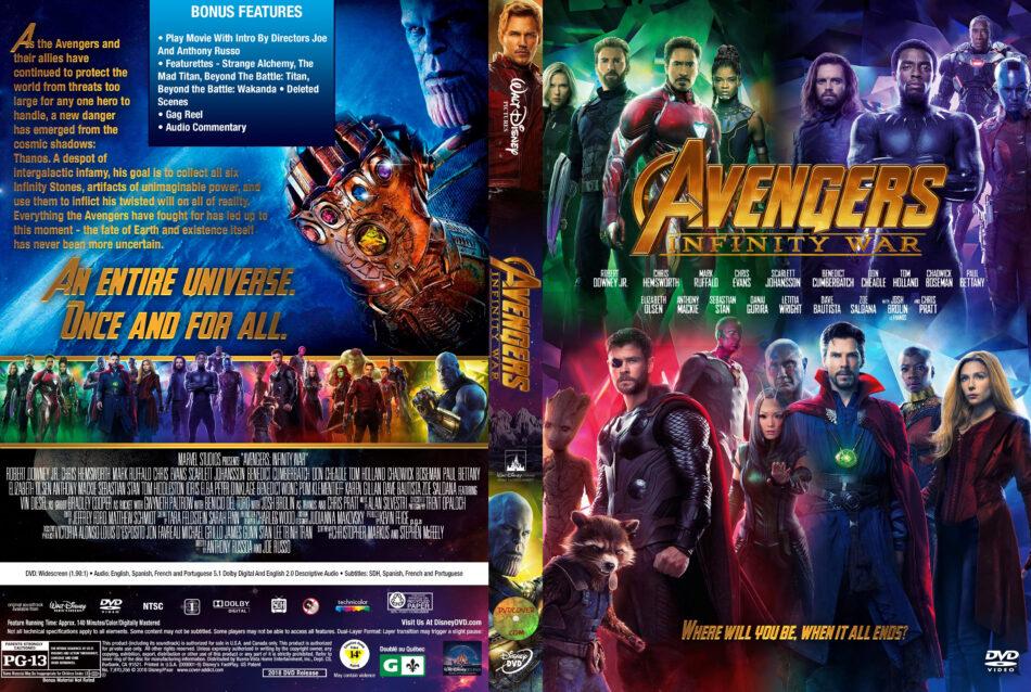 Avengers Infinity War 2018 R1 Custom Dvd Cover Dvdcover Com
