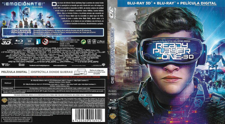 Ready Player One (scan) Bluray Cover   Cover Addict - Free
