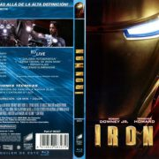 Iron Man (2008) Spanish Blu-Ray Cover & Label