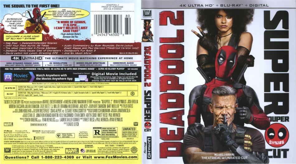 Deadpool 2 Blue Ray
