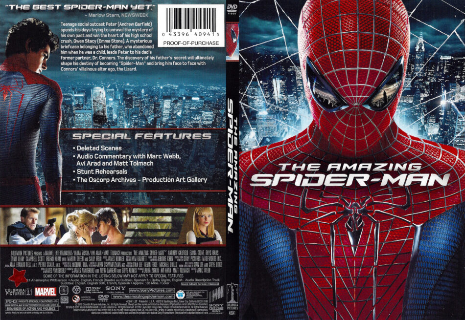 The Amazing Spiderman 2012 R1 Slim Dvd Cover Dvdcover Com
