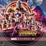 Avengers: Infinity War (2018) R1 Custom DVD Label