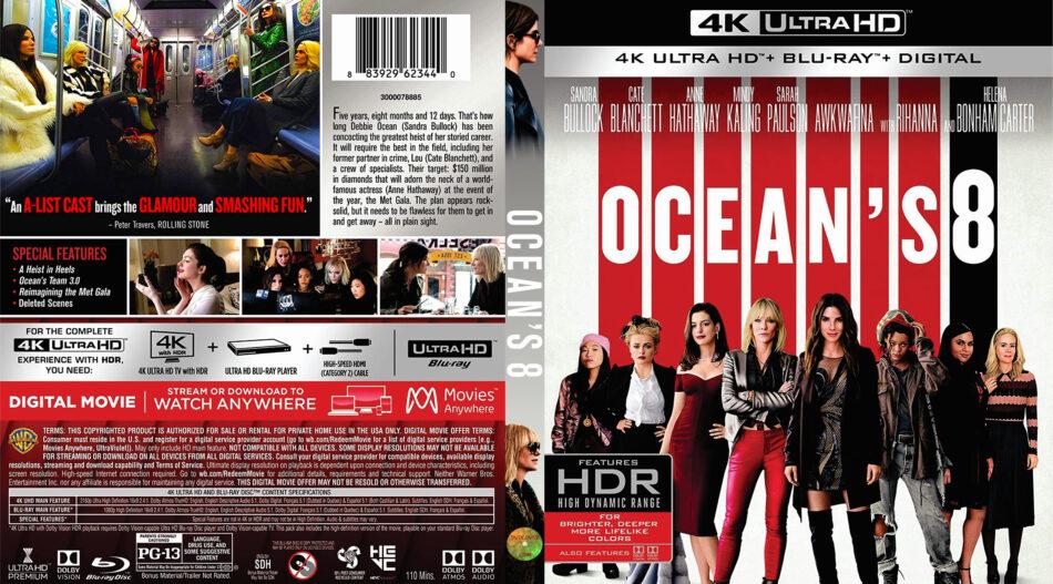 Ocean S Eight 2018 4k Uhd Cover Dvdcover Com
