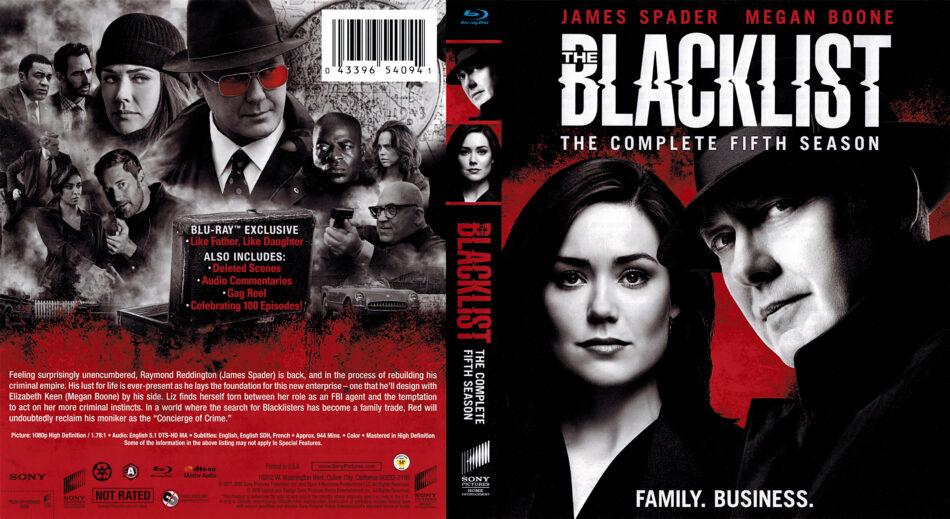 The Blacklist: Season 5 (2018) R1 Blu-Ray Cover - DVDcover Com