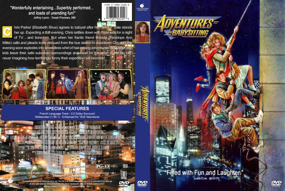 Adventures In Babysitting 1987 R1 Custom Dvd Cover