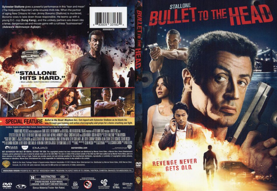 Bullet To The Head 2013 R1 Slim Dvd Cover Dvdcover Com