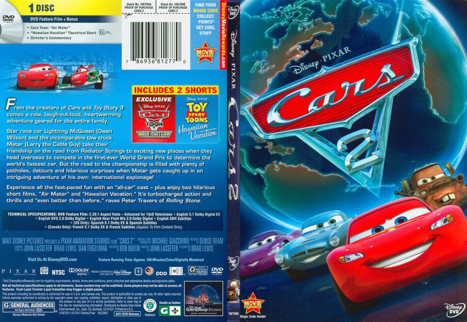Cars 2 2011 R1 Slim Dvd Cover Dvdcover Com