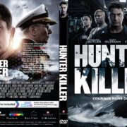 Hunter Killer (2018) R1 CUSTOM DVD Cover & Label