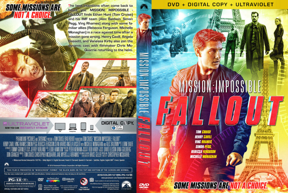 Mission: Impossible - Fallout (2018) R1 Custom Cover v2