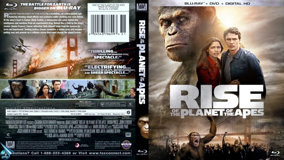 Rise Of The Planet Of The Apes 2011 Blu Ray Cover Dvdcover Com