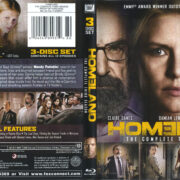 Homeland: The Complete Third Season (2013) R1 Blu-Ray Cover & Labels