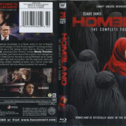 Homeland: The Complete Fourth Season (2014) R1 Blu-Ray Cover & Labels
