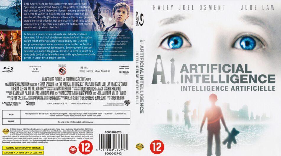 Ai Artificial Intelligence 2001 Nl Fr Blu Ray Cover Dvdcover Com