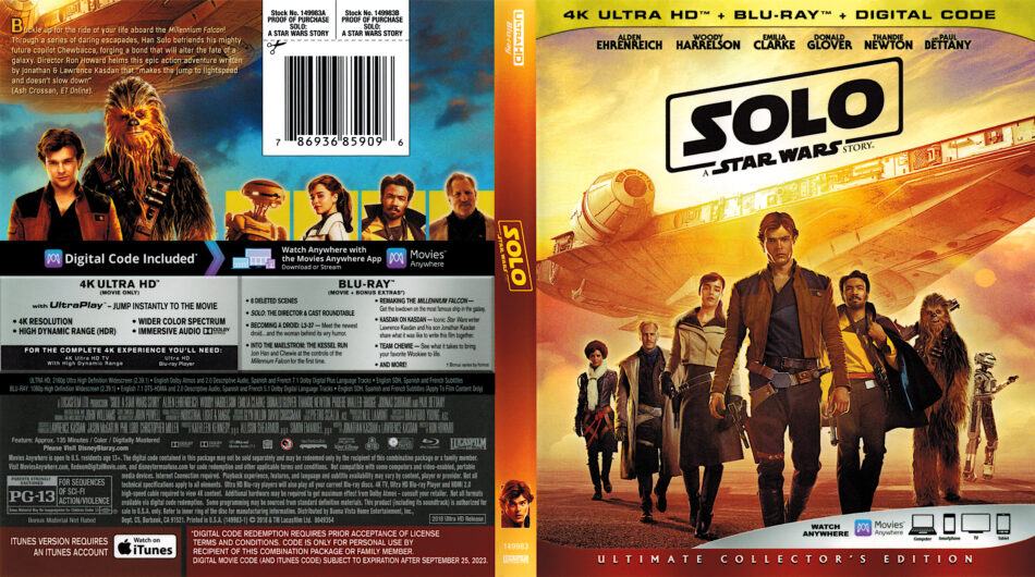 Solo A Star Wars Story 2018 R1 4k Blu Ray Cover Dvdcover Com
