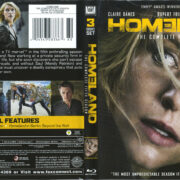 Homeland: The Complete Fifth Season (2016) R1 Blu-Ray Cover & Labels