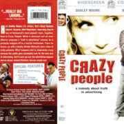 Crazy People (1990) R1 DVD Cover & Label
