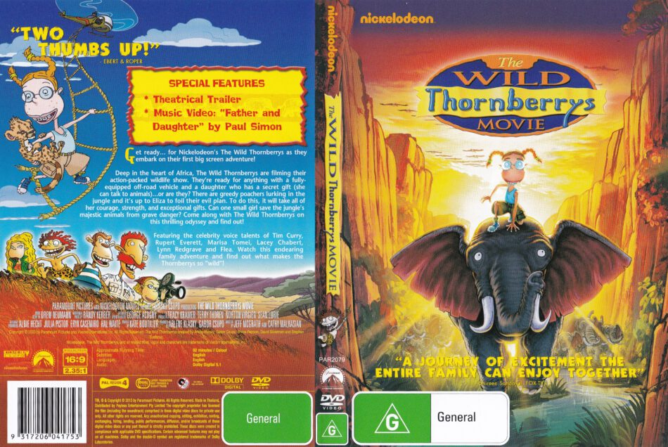 The Wild Thornberrys Movie 2002 R4 Dvd Cover Label Dvdcover Com