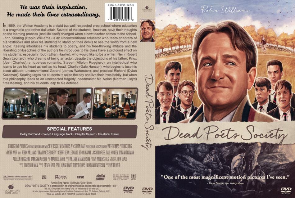 Dead Poets Society 1989 R1 Custom Dvd Cover Dvdcover Com