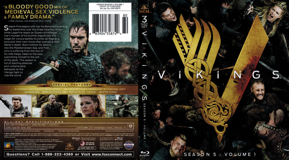 Vikings: Season 5 Volume 1 (2017) Blu-Ray Cover - DVDcover Com