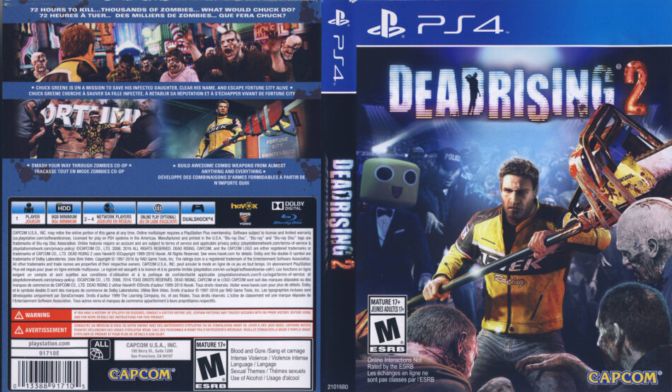 Dead Rising 2 2016 Ps4 Cover Dvdcover Com