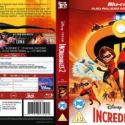 Incredibles 2 3D (2018) R2 Blu-Ray Cover