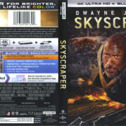Skyscraper (2018) R1 4K UHD Cover & Labels