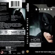 Batman Begins (2005) R1 4K UHD Blu-Ray Cover