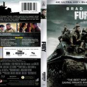 Fury (2014) R1 4K UHD Blu-Ray Cover