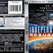 Independence Day: Resurgence (2016) R1 4K UHD Blu-Ray Cover & Label