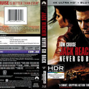 Jack Reacher: Never Go Back (2016) R1 4K UHD Blu-Ray Cover
