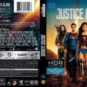 Justice League (2017) R1 4K UHD Blu-Ray Cover & Label