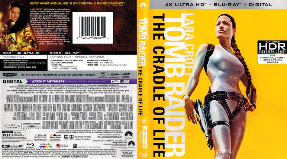 Lara Croft Tomb Raider The Cradle Of Life 2003 R1 4k Uhd