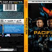 Pacific Rim: Uprising (2018) R1 4K UHD Blu-Ray Cover & Label