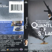 James Bond: Quantum Of Solace (2008) R1 Blu-Ray Cover & Label