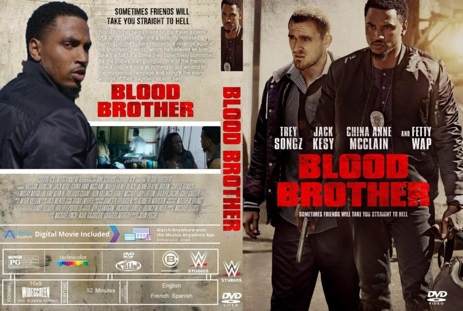 Blood Brother (2018) R1 Custom DVD Cover & Label - DVDcover.Com