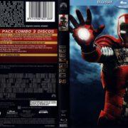 Iron Man 2 (2010) R2 Spanish Blu-Ray Cover & Label