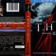 Thor 3D Edicion Limitada (2011) R2 Spanish Blu-Ray Cover & Label