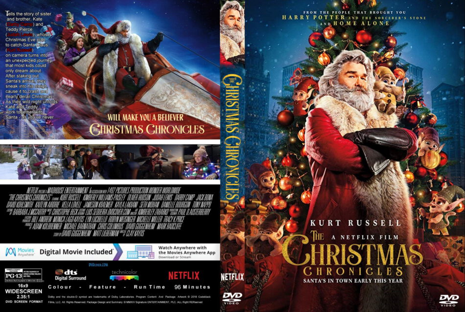 The Christmas Chronicles 2018 Dvd Cover.The Christmas Chronicles 2018 R1 Custom Dvd Cover
