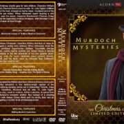 Murdoch Mysteries: The Christmas Cases (2015-2017) R1 Custom DVD Cover & Labels