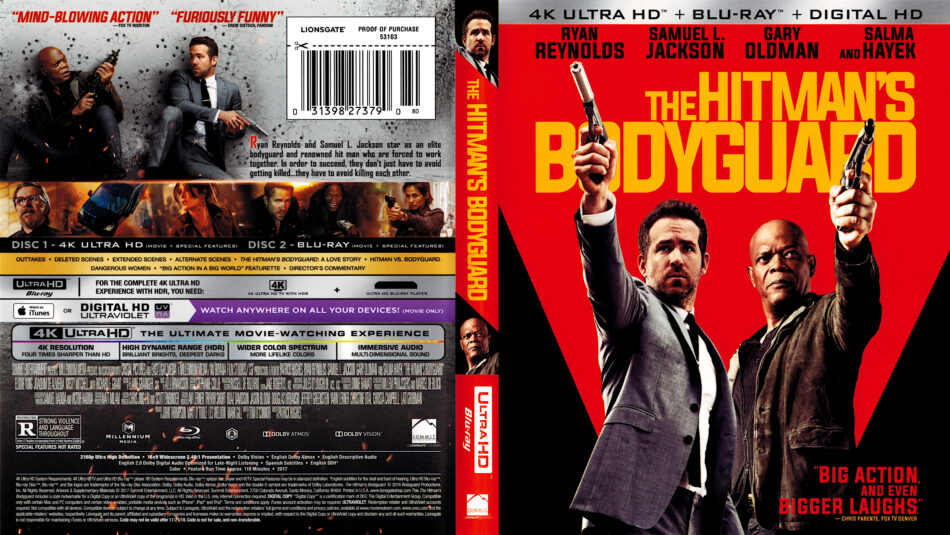 The Hitman S Bodyguard 2017 4k Uhd Cover Dvdcover Com