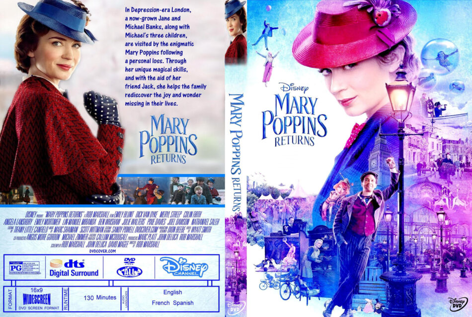 Mary Poppins Returns 2018 R1 Custom Dvd Cover Dvdcover Com