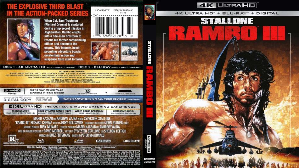 Rambo Iii 1988 R1 4k Uhd Custom Cover Dvdcover Com