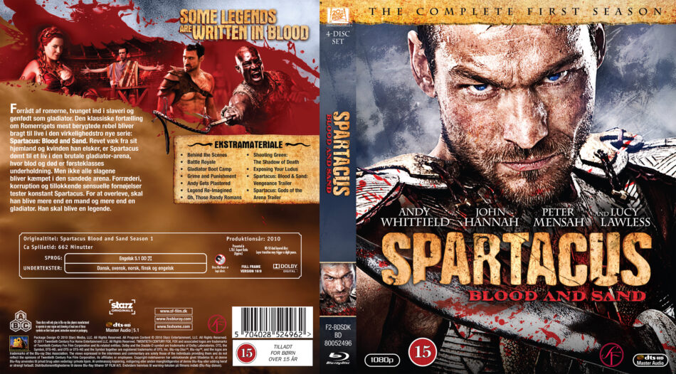 Spartacus: Blood And Sand: Season 1 (2010) R2 Nordic Blu ...