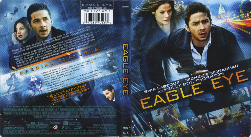 Eagle Eye 2008 R1 Blu Ray Cover Label Dvdcover Com
