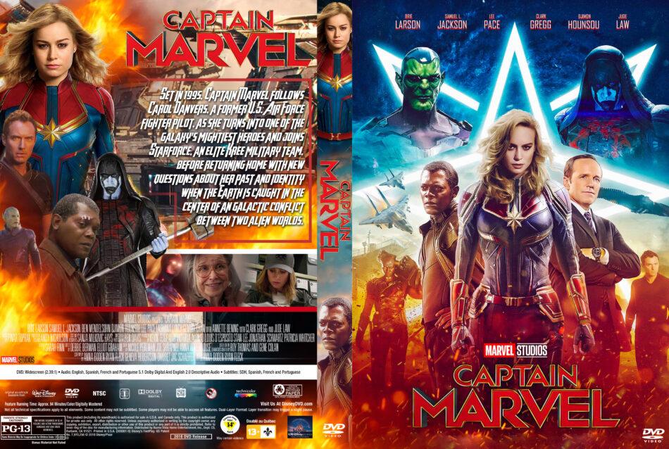 captain marvel  2019  r1 custom dvd cover