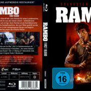 Rambo - First Blood (1982) German (4k Remastered) Cover & label