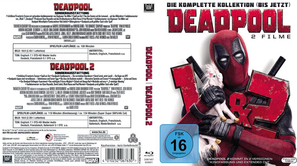 Deadpool 2-Movie-Collection (2018) R2 Custom German Blu-Ray